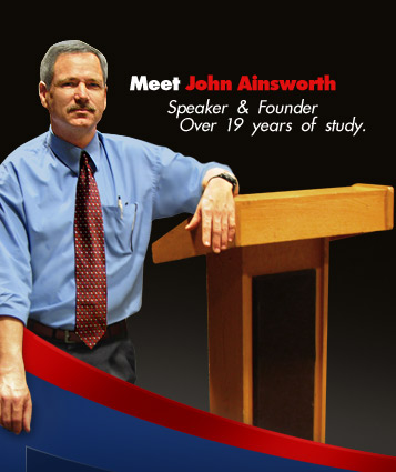 Meet John Ainsworth. Speaker and Founder, Over 19 years of study.